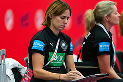 Coach Debbie Klijn of Germany during the Women's EHF Euro 2020 match between /Germany and Poland at Sydbank Arena on december 07, 2020 in Kolding, Denmark (Photo by RHF Agency/Ronald Hoogendoorn)