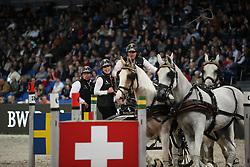 Chardon IJsbrand, (NED)<br /> FEI World Cup Driving<br /> DB Schenker German Master<br /> Stuttgart - German Masters 2015<br /> © Hippo Foto - Stefan Lafrentz