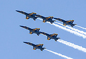 Blue Angels and Thunderbirds NYC flyover tribute, New York, USA