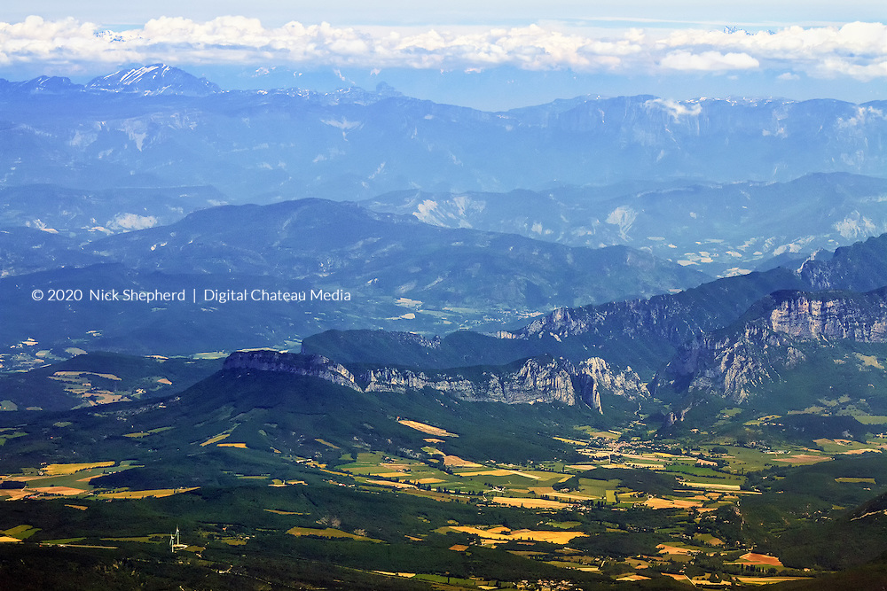 The French Alps seen from the air