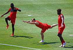 ANN ARBOR, USA - Friday, July 27, 2018: Liverpool's new signing Xherdan Shaqiri during a training session ahead of the preseason International Champions Cup match between Manchester United FC and Liverpool FC at the Michigan Stadium. (Pic by David Rawcliffe/Propaganda)