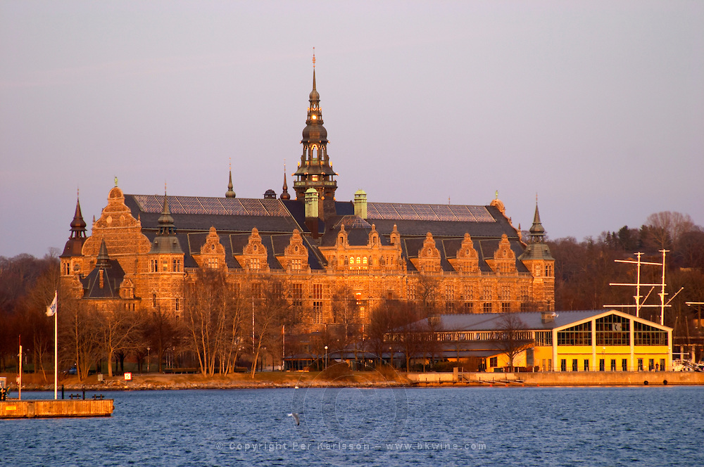 The Nordiska Museet, Nordic Museum of cultural history, on Djurgarden. Late 18th early 19th century. Stockholm. Sweden, Europe.