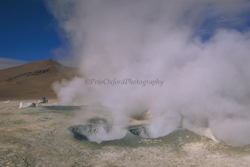 """Sol de Manana"" Fumeroles<br />4850 Meters<br />Altiplano, High Andes.  SW BOLIVIA.   South America"