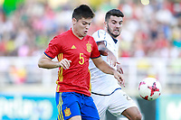 Spain's Mere (l) and Italy's Cutrone during international sub 21 friendly match. September 1,2017.(ALTERPHOTOS/Acero)