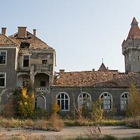 Ruined military barrack castle in Hajmasker