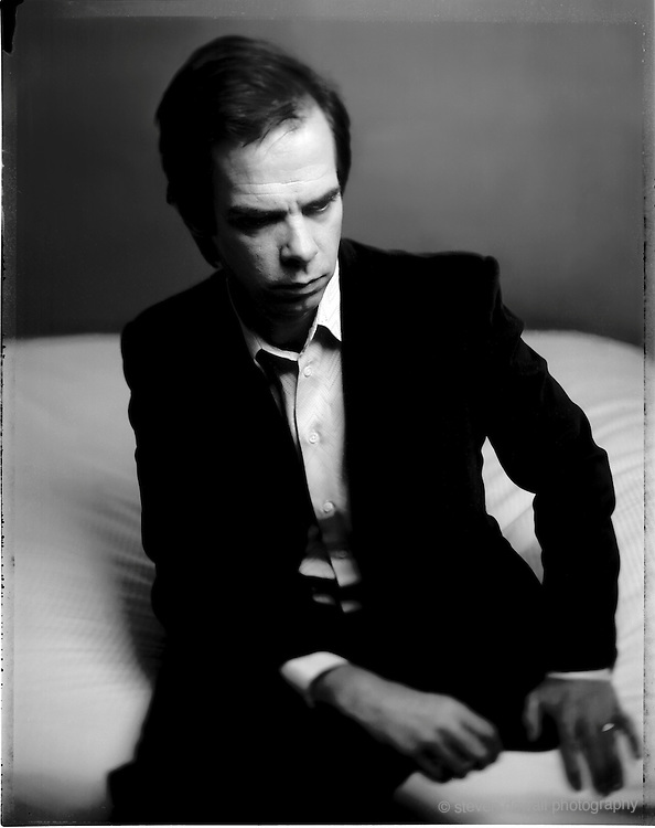 Nick Cave photographed at a Manhatten Hotel during CMJ in New York City in 2003.