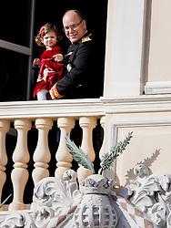 Fürst Albert von Monaco mit India Casiraghi bei den Feierlichkeiten zum Nationalfeiertag in Monaco / 191116<br /> <br /> ***National Day in Monaco, November 19th, 2016***