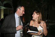 Anahita Resort launch party. Wallace Collection. London. 12 September 2007.   William Cash;Francesca Tarrant ( Photo by Dafydd Jones) -DO NOT ARCHIVE-© Copyright Photograph by Dafydd Jones. 248 Clapham Rd. London SW9 0PZ. Tel 0207 820 0771. www.dafjones.com.