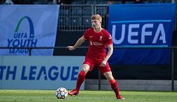 LIVERPOOL, ENGLAND - Wednesday, September 15, 2021: Liverpool's Luca Stephenson during the UEFA Youth League Group B Matchday 1 game between Liverpool FC Under19's and AC Milan Under 19's at the Liverpool Academy. Liverpool won 1-0. (Pic by David Rawcliffe/Propaganda)
