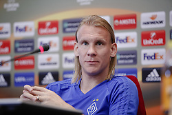 September 13, 2017 - Kiev, Ukraine - Dynamo Kyiv's player Domagoj Vida attends a press conference in Kyiv, Ukraine, September 13, 2017. FC Dynamo Kyiv gets the last preparation before the game against Albanian Skenderbeu in the UEFA Europa League Group B opener. (Credit Image: © Sergii Kharchenko/NurPhoto via ZUMA Press)