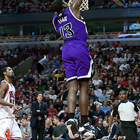 21 December 2009: Sacramento Kings guard Tyreke Evans dunks the ball during the Sacramento Kings 102-98 victory over the Chicago Bulls at the United Center, in Chicago, Illinois, USA.