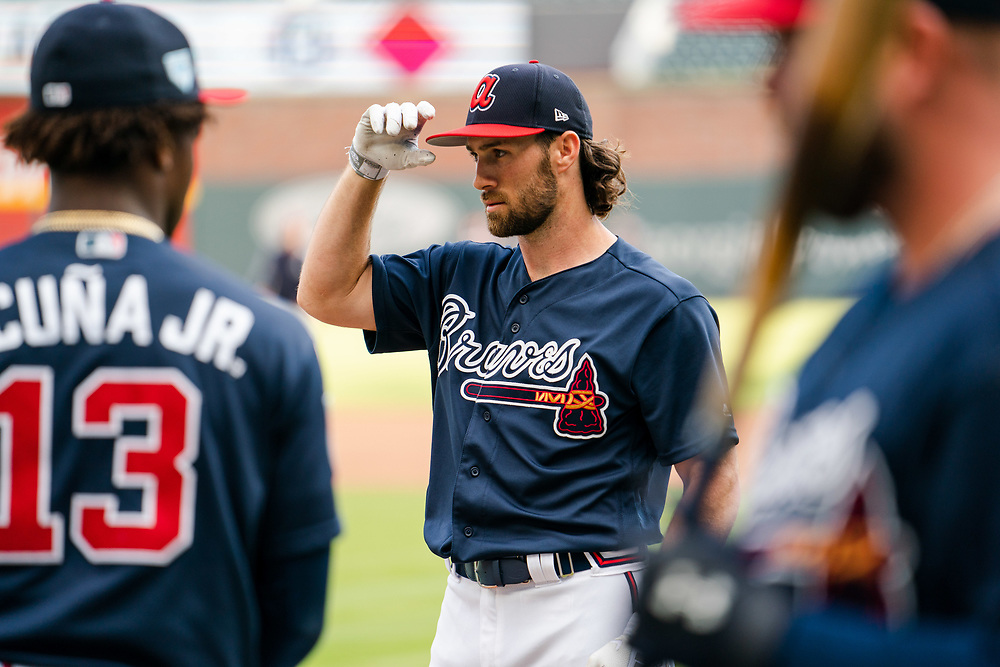Charlie Culberson during Braves v. Reds exhibition game on Monday, March 25, 2018 at SunTrust Park. The Braves won 8-5. Photo by Kevin D. Liles/Atlanta Braves