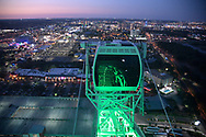 The city skyline is viewed from the Orlando Eye Ferris wheel in Orlando, Fla., Tuesday, May 2, 2017. (Phelan M. Ebenhack via AP)