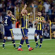 Fenerbahce's and Akhisar Belediye Genclik ve Spor's during their Turkish super league soccer match Fenerbahce between Akhisar Belediye Genclik ve Spor at the Sukru Saracaoglu stadium in Istanbul Turkey on Sunday 04 October 2015. Photo by Aykut AKICI/TURKPIX