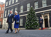 © Licensed to London News Pictures. 18/12/2012. Westminster, UK Queen Elizabeth with Foreign Secretary William Hague. Queen Elizabeth II meets British Prime Minister David Cameron on the steps of 10 Downing Street prior to observing a cabinet meeting, she is the first monarch to do so since Queen Victoria. Photo credit : Stephen Simpson/LNP