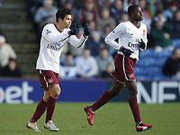 Fotball<br /> 06.01.2008<br /> FA Cup<br /> Burnley v Arsenal<br /> Foto: imago/Digtalsport<br /> NORWAY ONLY<br /> <br /> Eduardo da Silva (li.) und Emmanuel Eboue (beide Arsenal) - Torjubel
