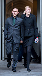 © Licensed to London News Pictures. 09/10/2018. Bristol, UK. Teacher ELLIE WILSON (blonde hair) leaves Bristol Crown Court on the second day of the second week of her trial, accused of having sexual activity with a school pupil. The jury is still out to consider their verdict. The 29 year old from Dursley in Gloucestershire denies four counts of abuse of position and sexual activity with a child. She was a physics teacher at a Bristol secondary school (which cannot be named for legal reasons) when the alleged offences took place in August 2015. It is alleged that Wilson had sex with the male pupil in the toilet of an aircraft on the return flight from a school trip to southern Africa. When interviewed Wilson said there was a friendship with the boy and admitted she shouldn't have gone as far as she did but there was nothing sexual. Photo credit: Simon Chapman/LNP