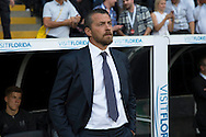 Slavisa Jokanovic, the Fulham manager looks on from the touchline. Skybet EFL championship match, Fulham v Newcastle Utd at Craven Cottage in Fulham, London on Friday 5th August 2016.<br /> pic by John Patrick Fletcher, Andrew Orchard sports photography.