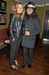 JEANNE MARINE and hairdresser MASSATO at a party to launch Madderson London Women's Wear held at Beaufort House, 354 Kings Road, London on 23rd January 2014.