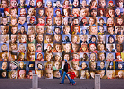 Dialog Project created by Anne Leoniak and Fiann Paul on view at the crossroads of Lækjargata and Austurstræti<br /> Photographs of Icelandic children.