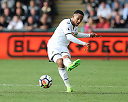 Martin Olsson of Swansea city in action. Premier league match, Swansea city v Watford at the Liberty Stadium in Swansea, South Wales on Saturday 23rd September 2017.<br /> pic by  Andrew Orchard, Andrew Orchard sports photography.