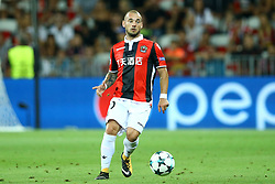 August 22, 2017 - Nice, France - Wesley Sneijder of Nice  during the UEFA Champions League Qualifying Play-Offs round, second leg match, between OGC Nice and SSC Napoli at Allianz Riviera Stadium on August 22, 2017 in Nice, France. (Credit Image: © Matteo Ciambelli/NurPhoto via ZUMA Press)