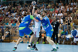 Borut Mackovsek of Slovenia during handball game between Man National Teams of Slovenia and Hungary in 2019 Man's World Championship Qualification, on June 9, 2018 in Arena Bonifika, Ljubljana, Slovenia. Photo by Urban Urbanc / Sportida