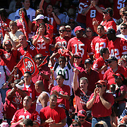 49ers Fans  during an NFL football game between the Dallas Cowboys and the San Francisco 49ers at Candlestick Park on Sunday, Sept. 18, 2011 in San Francisco, CA.   (Photo/Alex Menendez)