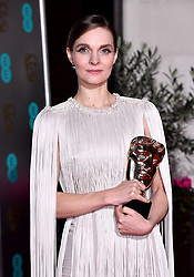 Hildur Guonadottir with her Best Original Score Bafta award attending the after show party for the 73rd British Academy Film Awards.