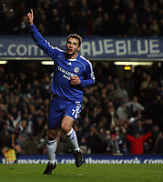 Photo: Paul Thomas.<br /> Chelsea v Wycombe Wanderers. Carling Cup, Semi Final 2nd Leg. 23/01/2007.<br /> <br /> Andriy Shevchenko celebrate his second goal for Chelsea.