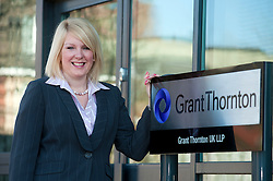 Emma Davies of Grant Thornton recently appointed Director..http://www.pauldaviddrabble.co.uk.26 March 2012 .Image © Paul David Drabble