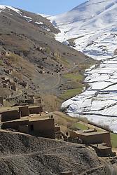 Landscape and villages of Falalij, Daikundi Province, Afghanistan