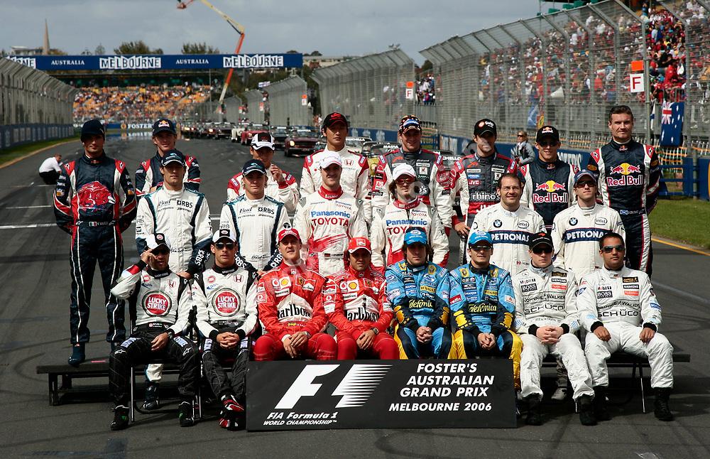 The Formula One field 2006 before the 2006 Australian Grand Prix in Albert Park- Melbourne. Photo: Grand Prix Photo