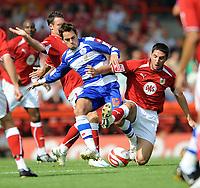 Fotball<br /> England<br /> Foto: Fotosports/Digitalsport<br /> NORWAY ONLY<br /> <br /> Bristol City v Queens Park Rangers Championship 30.08.08 <br /> <br /> Bradley Orr Bristol City & Lee Cook QPR