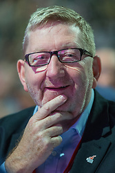 """© Licensed to London News Pictures . File pic dated 21/09/2014 . Manchester , UK . Len McCluskey at the Labour Party Conference in Manchester. Len McCluskey has threatened to withdraw funding from the Labour Party if the  """"correct leader"""" isn't chosen.  . Photo credit : Joel Goodman/LNP"""