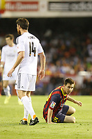 F.C. Barcelona´s Leo Messi during the Spanish Copa del Rey `King´s Cup´ final soccer match between Real Madrid and F.C. Barcelona at Mestalla stadium, in Valencia, Spain. April 16, 2014. (ALTERPHOTOS/Victor Blanco)
