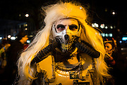 New York, NY - 31 October 2016. A frightening character in the Greenwich Village Halloween Parade.