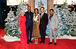 (left-right) Dame Helen Mirren, Will Smith, Edward Norton and Jacob Latimore attending the European premiere of Collateral Beauty, held at the Vue Leicester Square, London.