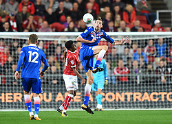 Peter Crouch of Stoke City in action at Ashton Gate Stadium - Mandatory by-line: Paul Knight/JMP - 19/09/2017 - FOOTBALL - Ashton Gate Stadium - Bristol, England - Bristol City v Stoke City - Carabao Cup