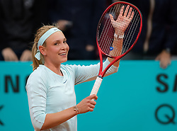 May 7, 2019 - Madrid, MADRID, SPAIN - Donna Vekic of Croatia in action during her second-round match at the 2019 Mutua Madrid Open WTA Premier Mandatory tennis tournament (Credit Image: © AFP7 via ZUMA Wire)