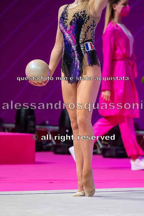 Moustafaeva Kseniya from France performs at the ball during the 2021 Pesaro World Cup.