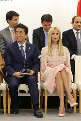 """Shinzo Abe (Japanese Prime Minister) and Ivanka Trump (Advisor to the President of the United States) - Side event organized by the Japanese Prime Minister, on the theme """"Promoting the place of women at work"""" at the Intex Osaka congress center at the G20 summit in Osaka, Japan, on June 29, 2019. Photo by Dominque Jacovides/Pool/ABACAPRESS.COM"""