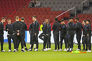 England players on the pitch before the Friendly match between Netherlands and England at the Amsterdam Arena, Amsterdam, Netherlands on 23 March 2018. Picture by Phil Duncan.