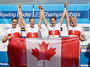 Trackai. LITHUANIA. CAN BW4-. Bow, Christine ROPER, Susanne GRAINGER, Cherly COPSON and Antje VON SEYDLITZ-KURZBACH Gold medalist in the women's four at the 2012 FISA U23 World Rowing Championships,  Lake Galve.    16:38:10  Saturday  14/07/2012 [Mandatory Credit: Peter Spurrier/Intersport Images]..Rowing. 2012. U23.
