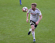 Tim Ream of Fulham in action. The Emirates FA Cup, 3rd round match, Cardiff city v Fulham at the Cardiff city stadium in Cardiff, South Wales on Sunday 8th January 2017.<br /> pic by Andrew Orchard, Andrew Orchard sports photography.