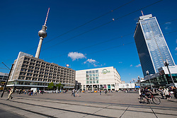 View of Alexanderplatz in Mitte Berlin Germany