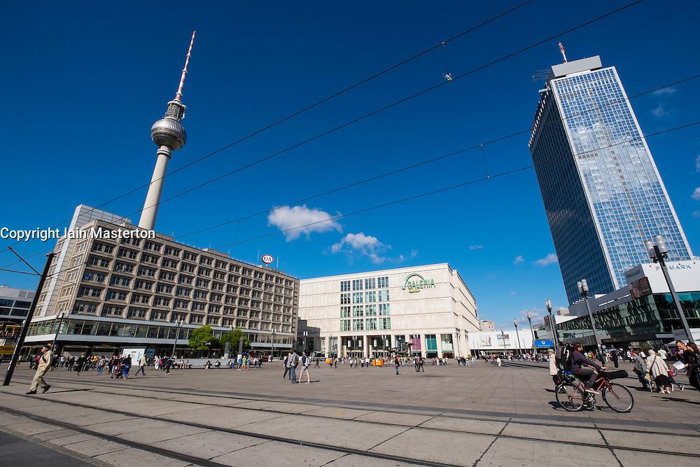 View of Alexanderplatz in Mitte Berlin Germany