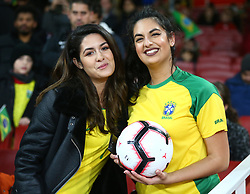November 16, 2018 - London, England, United Kingdom - London, England - November 16, 2018.Brazilian Fan.during Chevrolet Brazil Global Tour International Friendly between Brazil and Uruguay at Emirates stadium , Arsenal Football Club, England on 16 Nov 2018. (Credit Image: © Action Foto Sport/NurPhoto via ZUMA Press)