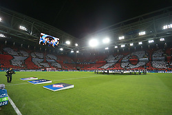 October 18, 2017 - Moscow, Russia - October 17, 2017. Russia, Moscow, Otkritie Arena Stadium. Spartak's perfomance  in the 2017/18 UEFA Champions League's group stage match between Spartak (Moscow, Russia) and Sevilla FC  (Credit Image: © Russian Look via ZUMA Wire)