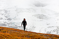 Hiking near the Eigergletscher, Swiss Alps, Canton Bern, Switzerland